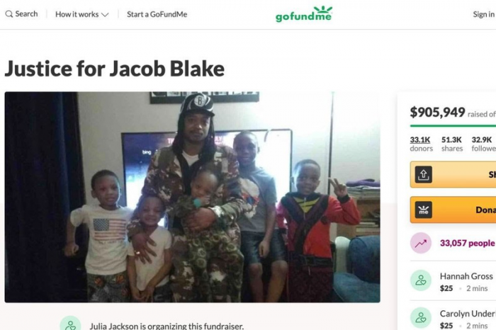 GoFundMe Page for Jacob Blake Surpasses $1 Million in One Day