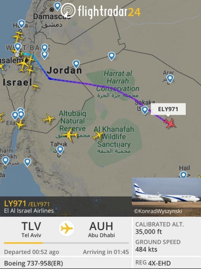 WATCH: Historic Flight from Israel to UAE