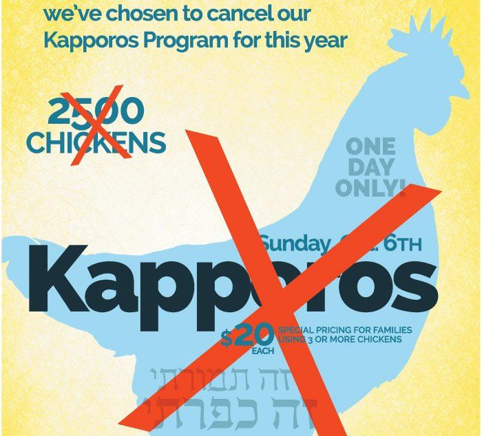 Kapporos Cancelled!