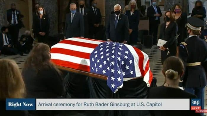 Ruth Bader Ginsburg first Woman and first Jew to lie in state in US Capital