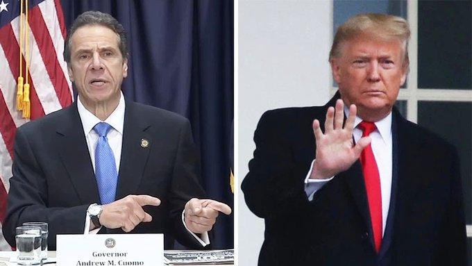 WATCH: Cuomo blames Trump for corona in NY