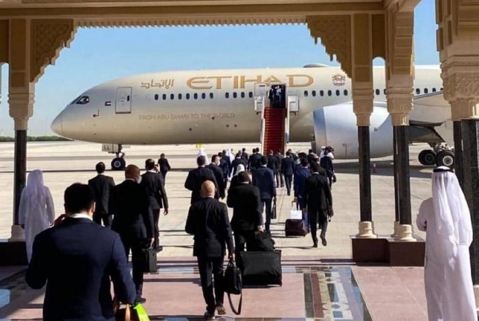 First official UAE delegation making its way to Israel