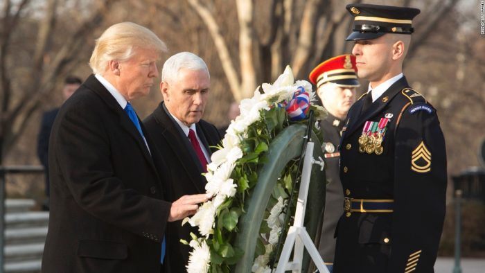 Trump and Pence at Arlington cemetery for Veterans Day