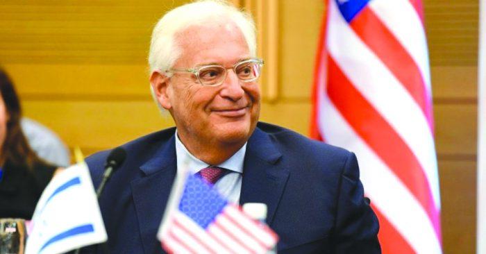 Ambassador David M. Friedman, Pursuer of Peace
