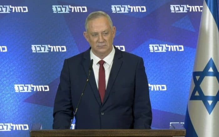 WATCH: Benny Gantz announces Blue and White will vote to dissolve the Knesset
